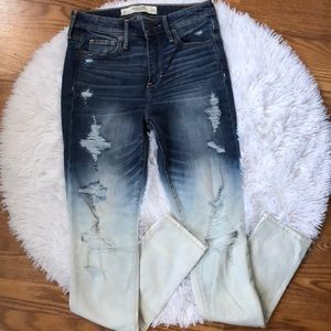 Abercrombie & Fitch High Rise Ombré Jeans